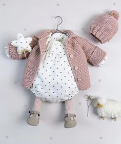 Newborn Girl Outfits, Toddler Outfits, Kids Outfits, Knitted Baby Cardigan, Knitted Baby Clothes, Baby Girl Fashion, Kids Fashion, Baby Knitting, Knitting Projects