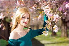 - cherry blossom by AlBhedNika on DeviantArt Live Action, Teaser, Cornelia Hale, Cherry Blossom, Aurora Sleeping Beauty, Deviantart, Disney Princess, Wedding Dresses, Search