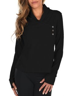 My new favorite wrap!  Super soft and stylish.  Available in black only. www.elevateactivewear.ca