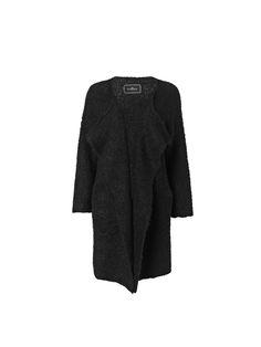 Koff long black bouclé knit cardigan - # Q56578004 - By Malene Birger Autumn Winter 2014 - Women's fashion