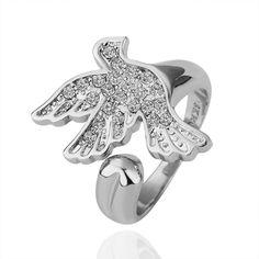 Pigeon Pattern18K White Gold  Ring