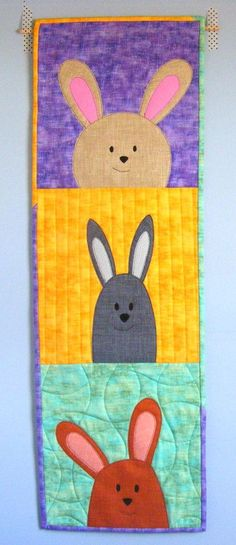 Mix & Match free bunny applique pattern from Shiny Happy World
