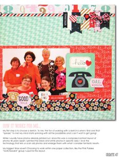 #papercraft #scrapbook #layout.  ISSUU - CREATE: Issue 6, June 2014 by Scrapbook Generation