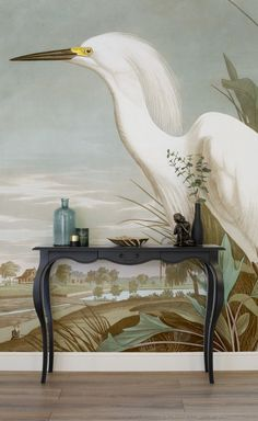 If you're looking for a sophisticated wallpaper for your home, look no further than this Birds of America mural. The classical painting brings a beautiful elegance to your home, pair with vintage furnishings for a timeless look.