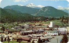 Longs Peak Vista from Estes Park Village Rocky Mountain National Park Colorado Vintage Postcard 1957. $5
