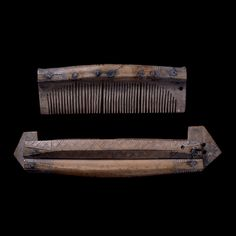 Comb and case, found in York, England.  Viking age.  Now in the British Museum.