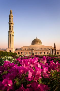 Sultan Qaboos Grand Mosque, Muscat, Oman (by Christoph Ahrendt) Mosque Architecture, Ancient Greek Architecture, Art And Architecture, Beautiful Mosques, Beautiful Places, Voyage Oman, Sultan Qaboos Grand Mosque, Sultanate Of Oman, Salalah