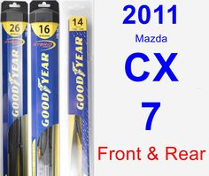 Front & Rear Wiper Blade Pack for 2011 Mazda CX-7 - Hybrid