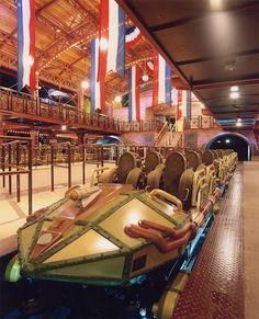 """The Disneyland Paris Space Mountain""""  ride """"from the earth to the moon"""" was a big hit from opening day in 1995 & at that time was the fastest ride in any Disney theme park. A supercharged cannon straight from the world of Jules Verne fires you through space at warp speed."""