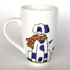 Tasse mon chien d'amour. Peinte à la main par l'artiste Isabelle Malo du Québec, Canada Painted Coffee Mugs, Hand Painted Mugs, Hand Painted Ceramics, Mural Painting, Ceramic Art, Art Pictures, Flower Pots, Tea Cups, Sculptures