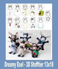 http://de.dawanda.com/product/99622679-13x18-dreamy-esel-3d-stofftier-ith