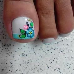 Diseños para pies French Pedicure, Pedicure Nail Art, Toe Nail Art, Mani Pedi, Toe Nails, Manicure, Fingernail Designs, Toe Nail Designs, New Nail Art Design