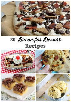 If you love the flavor combination of sweet & salty, then you are going to just love this recipe round-up of 30 Bacon for Dessert Recipes.