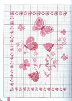 Ricamo e schemi a puntocroce gratuiti tante farfalle da for Punto croce farfalle