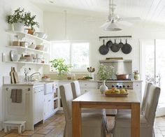 """This is one of my all time favorite kitchens I've styled for Country Living. And I use the term """"styled"""" loosely here, because it's the kitchen of my friend and colleague, Victoria Pearson and her ..."""