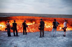 """The Door to Hell"" in Derweze, Turkmenistan 