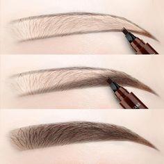 4 Points Eyebrow Pen – Deals-o-saur Filling In Eyebrows, Thin Eyebrows, How To Color Eyebrows, Perfect Eyebrows, Faded Eyebrows, Eyebrow Filling, Eyebrow Makeup Tips, Eyebrow Pencil, Waterproof Eyebrow