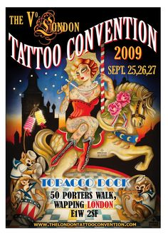 Susana Alonso's Artwork: POSTER FOR THE LONDON TATTOO CONVENTION 2009