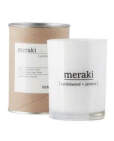 Meraki Duftkerze Sandalwood & Jasmine ø 8 cm: Amazon.de: Küche & Haushalt - 14 Euro