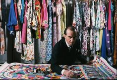 Emilio Pucci, Marchese di Barsento (1914-1992) was a Florentine Italian fashion designer. He and his company are synonymous with geometric prints in a kaleidoscope of colors. His marriage to Baronessa Cristina Nannini produced a daughter, Laudomia, who would design for the label after Pucci's death in 1992. Luxury giant Louis Vuitton Moet-Hennessy bought a controlling stake in the company in 2000 and began to bring in famous designers to create for the label such as Christian Lacroix.