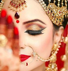 Makeup for Hindu wedding.