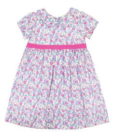 Look what I found on #zulily! Pink & White Floral Dress - Infant, Toddler & Girls #zulilyfinds