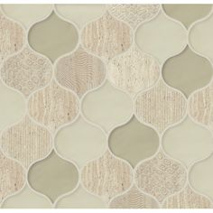 Found it at Wayfair - Panache Glass and Stone Mosaic Tile in Chiffon