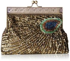 MG Collection Rayna Beaded Sequin Peacock Evening Clutch, Gold, One Size MG Collection http://www.amazon.com/dp/B006E9PPEM/ref=cm_sw_r_pi_dp_712.vb0K12KXY