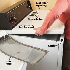How to clean a dryer and prevent house fires. Clean the lint from inside your clothes dryer as well as dryer lint caught in the exhaust vent. Dryer Lint Cleaning, Dryer Lint Trap, Vent Cleaning, Household Cleaning Tips, Diy Cleaning Products, Cleaning Hacks, Cleaning Solutions, Cleaning Appliances, Clean Dryer Vent