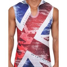 Pistol Pete UK Punk Sleeveless Hoody T-Shirt Multi (T4021) Pistol Pete, Punk, Hoody, Athletic Tank Tops, Stylish, Casual, T Shirt, Women, Fashion