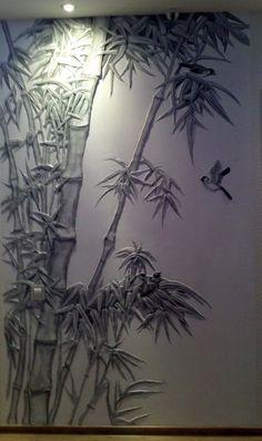 РЕЛЬЕФЫ | 67 фотографий Wall Painting Decor, Mural Wall Art, Home Wall Art, Wall Art Decor, Plaster Art, Plaster Walls, Wall Sculptures, Sculpture Art, Structure Paint