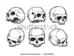 stock-vector-hand-drawn-skulls-vector-set-grunge-skulls-vector-illustration-172230002.jpg (450×343)