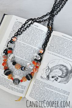 Halloween Jewelry Idea from Candie Cooper made using Jesse James Beads and Beadalon products