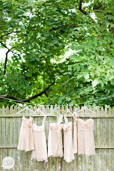 Mismatched amsale dresses  cassi claire photography