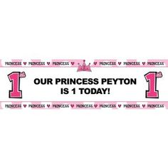 Personalized Oversized Birthday Banner - Princess - Birthday Gift Lil Princess st Personalized
