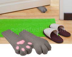 regalos originales tope de puerta con forma de pata de gato