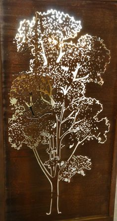A detailed gum tree, great as a privacy panel or feature in a native landscape. Metal Art Decor, Metal Artwork, Cnc Cutting Design, Laser Cut Screens, Airsoft, Laser Art, Outdoor Wall Art, Laser Cut Metal, Steel Panels