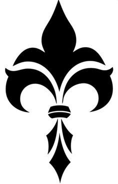 Fleur de lis (ref Stencil Patterns, Stencil Art, Stencil Designs, Pattern Art, Design Elements, Design Art, Home Bild, Islamic Art Pattern, Custom Stencils