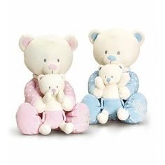 Keel Toys: Beer met Baby beer, 25 cm Smurfs, Baby Gifts, Onesies, Teddy Bear, Toys, Blue, Animals, Character, Activity Toys