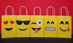 Emoji Party bags - fun emoji party bag ideas for the ultimate emoji party