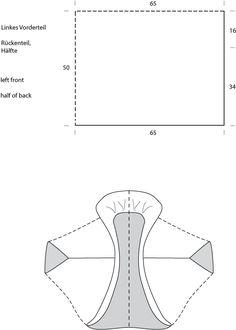 esquema para chaqueta a punto o ganchillo