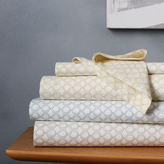 Organic Double Geo Sheet Set #westelm