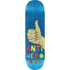 Antihero Beres Porous II Skateboard Deck -8.5 DECK ONLY