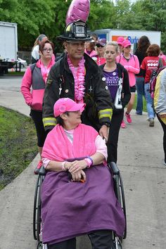 2013 Chicago Avon Walk for Breast Cancer - I read about this fireman who walked with his mom, in his fireman boots.  His story made me bawl!