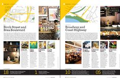 Orange Coast Magazine, editorial design by Carly Jo Creative. Nice grid layout, and well-balanced text and images.