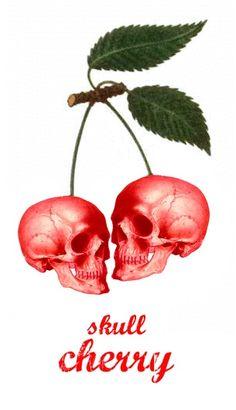 (via Cherry skull - Skullspiration.com - skull designs, art, fashionSkullspiration.com – skull designs, art, fashion and more)