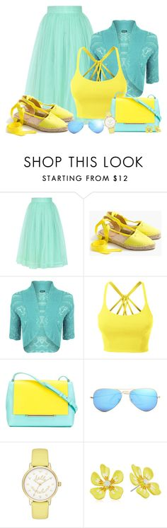 """Shoes Series 6/7: Espadrilles"" by asia-12 ❤ liked on Polyvore featuring Chicwish, J.Crew, WearAll, LE3NO, Delpozo, Ray-Ban, Kate Spade and Betsey Johnson"