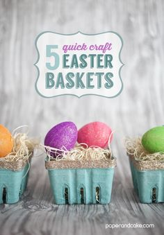 Paper and Cake | quick craft easter baskets | http://www.paperandcake.com