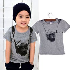 Excellent T Shirt T Boy Kids Camera Short Sleeve Tops O Neck T Shirt Tees Clothes Free Shipping Kids Summer Clothing #>=#>=#>=#>=#> Click on the pin to check out discount price, color, size, shipping, etc. Save and like it!