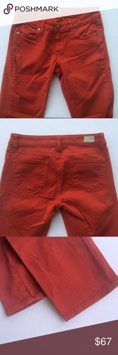 Paige Roxie Pants Paige pants from Anthropologie. Burnt orange. Cropped length. In great condition and only worn a few times! Anthropologie Pants Skinny